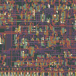 closeup of 6502 chip mask